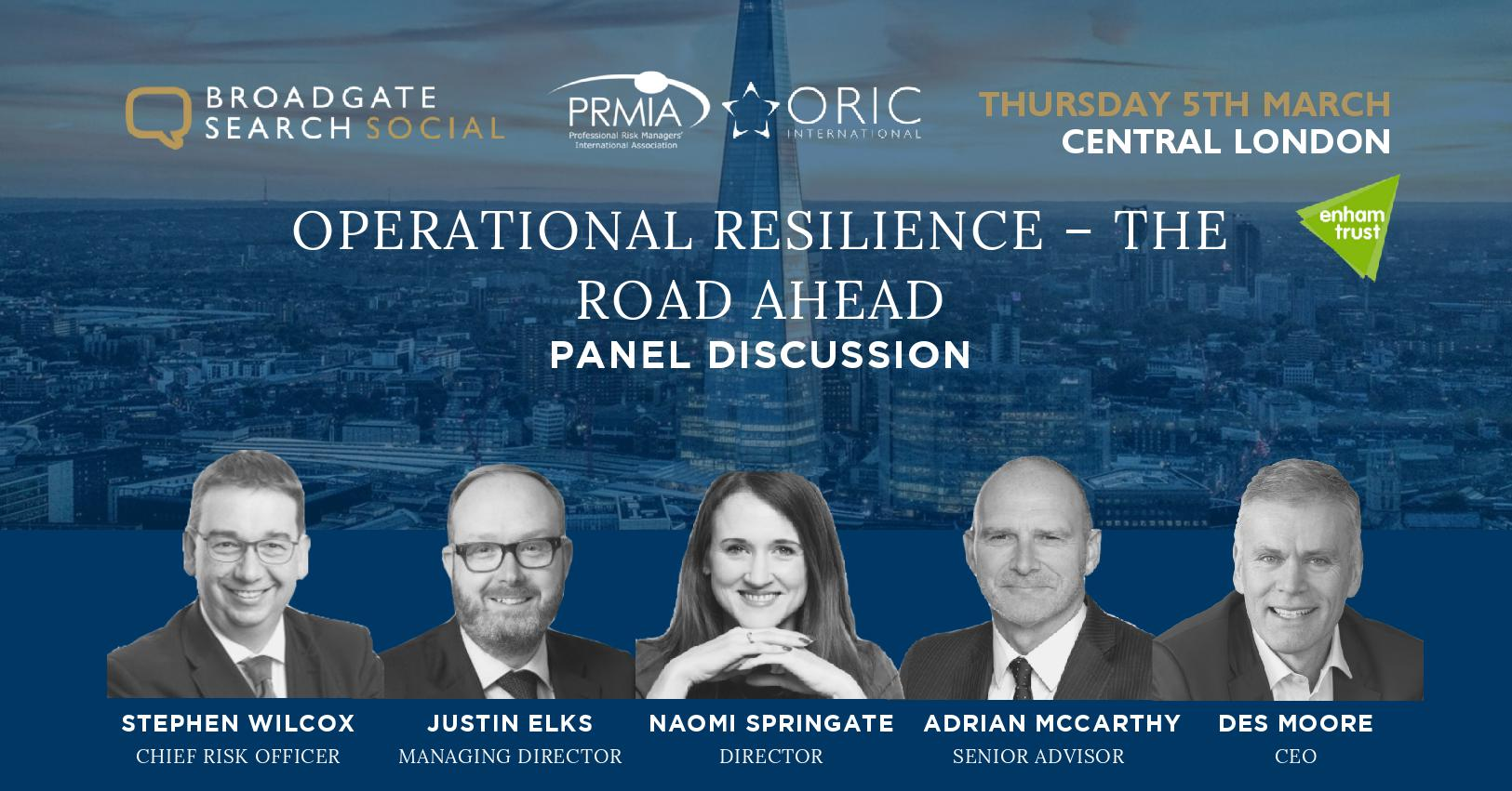 Operational Resilience – The Road Ahead