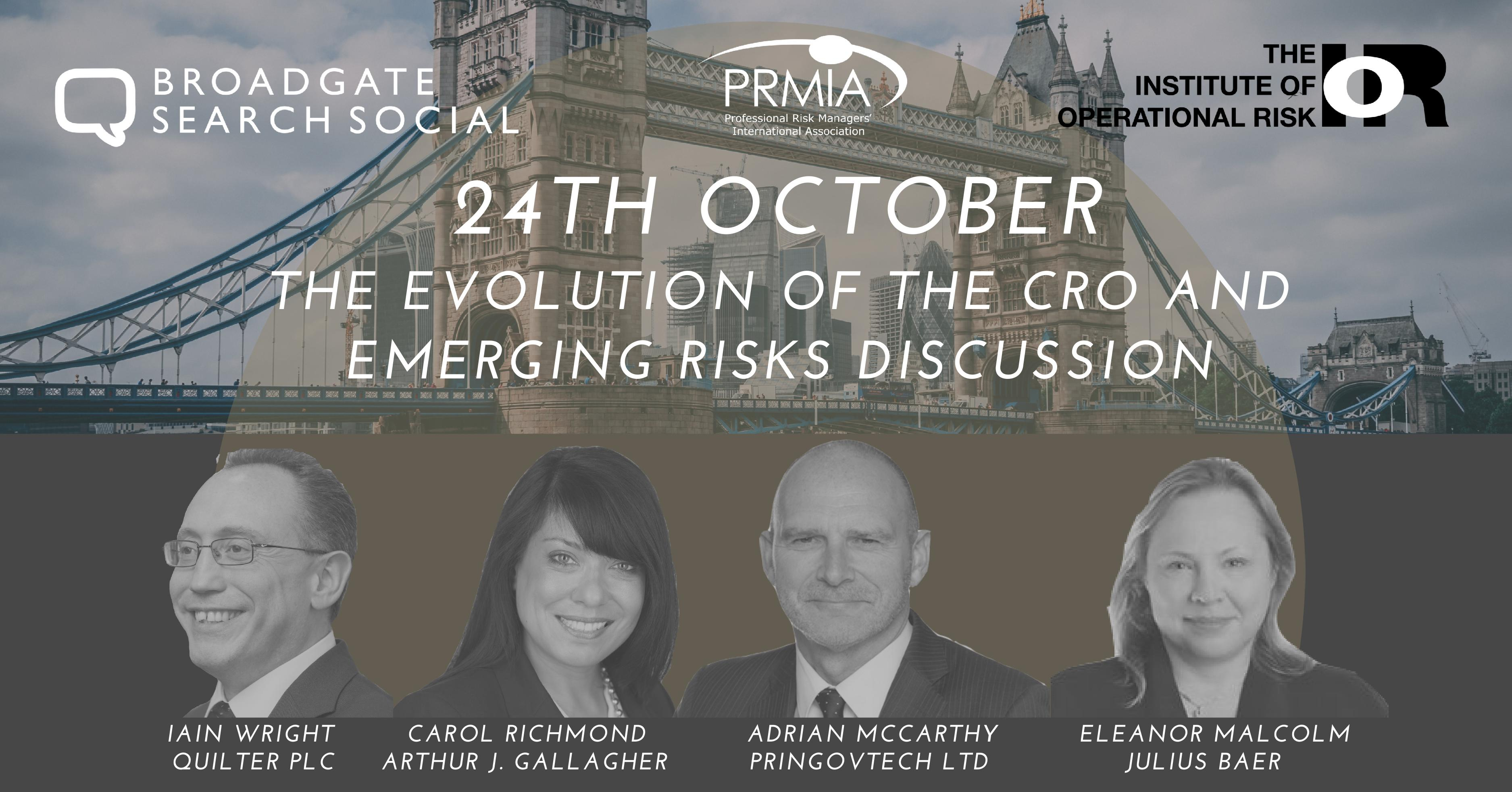 The Evolution of the CRO and Emerging Risks Discussion