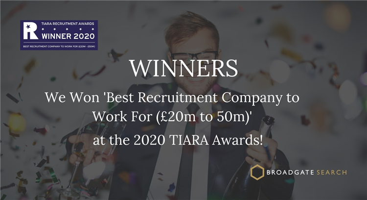 What it means to win 'Best Recruitment Company to work for (£20m to £50m)'