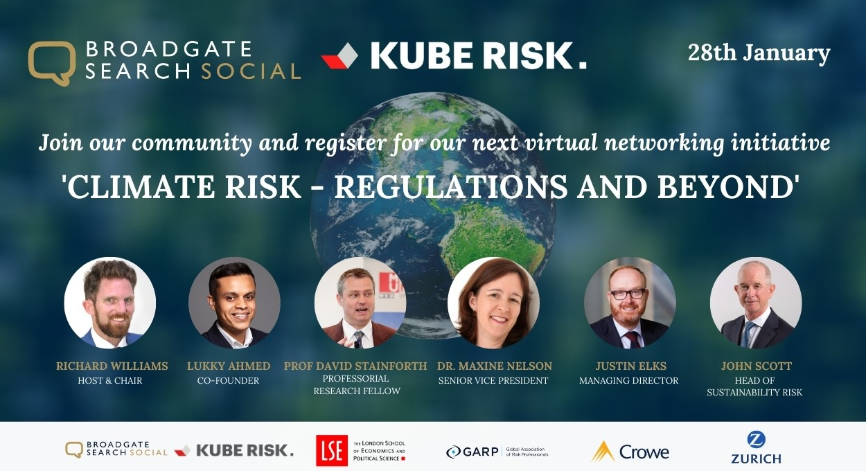 Webinar #7: Climate Risk - Regulations and Beyond