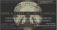 Broadgate Search Social - What's GDPR all about?