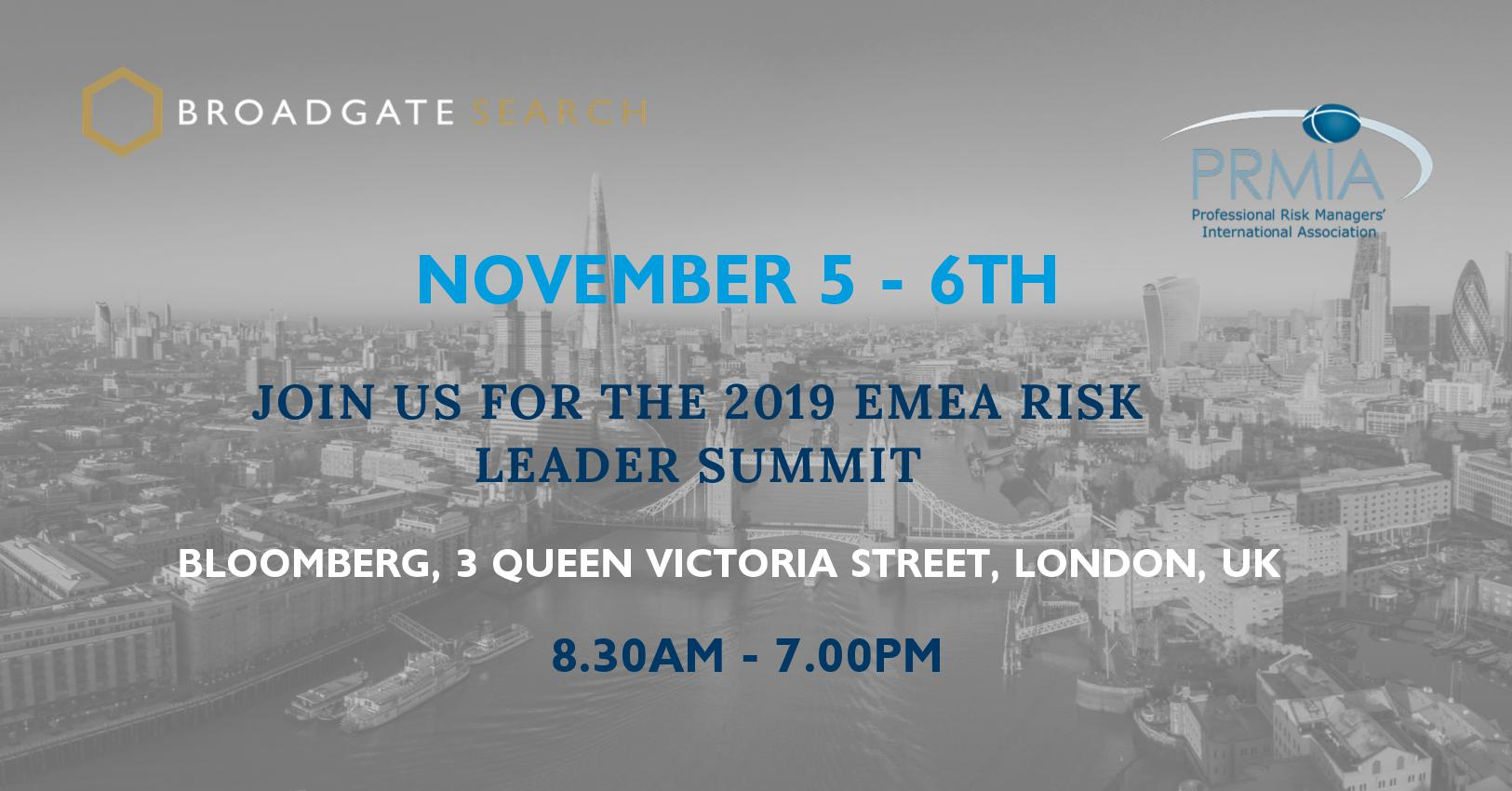 2019 EMEA Risk Leader Summit